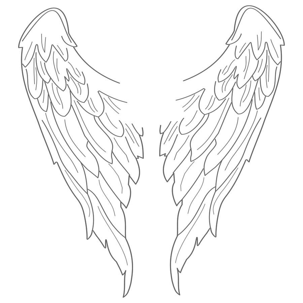 1024x1024 Easy To Draw Angel Wings