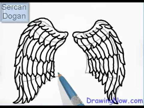 480x360 How To Draw Angel Wings
