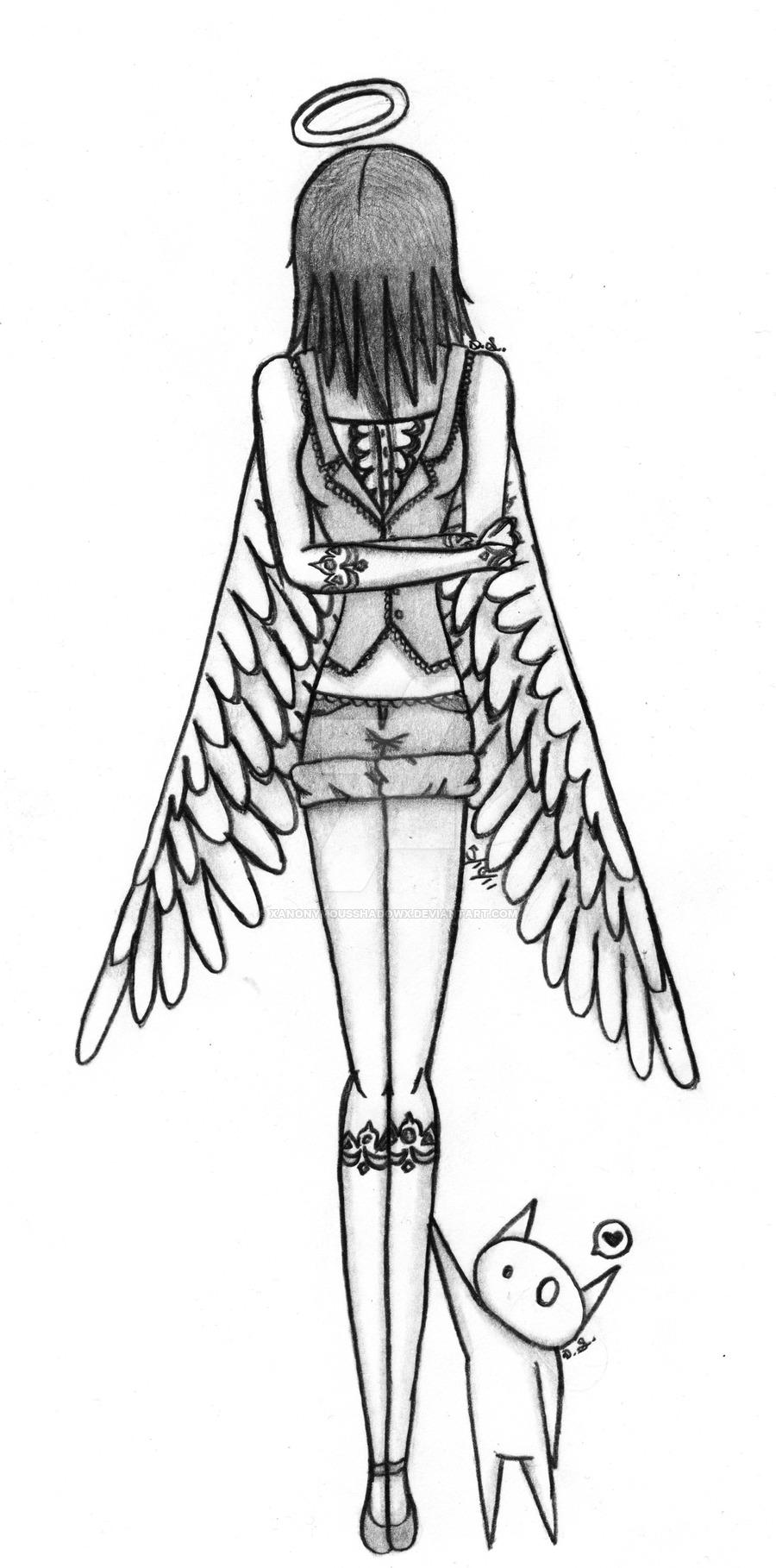 900x1818 Sad Angel By Xanonymousshadowx