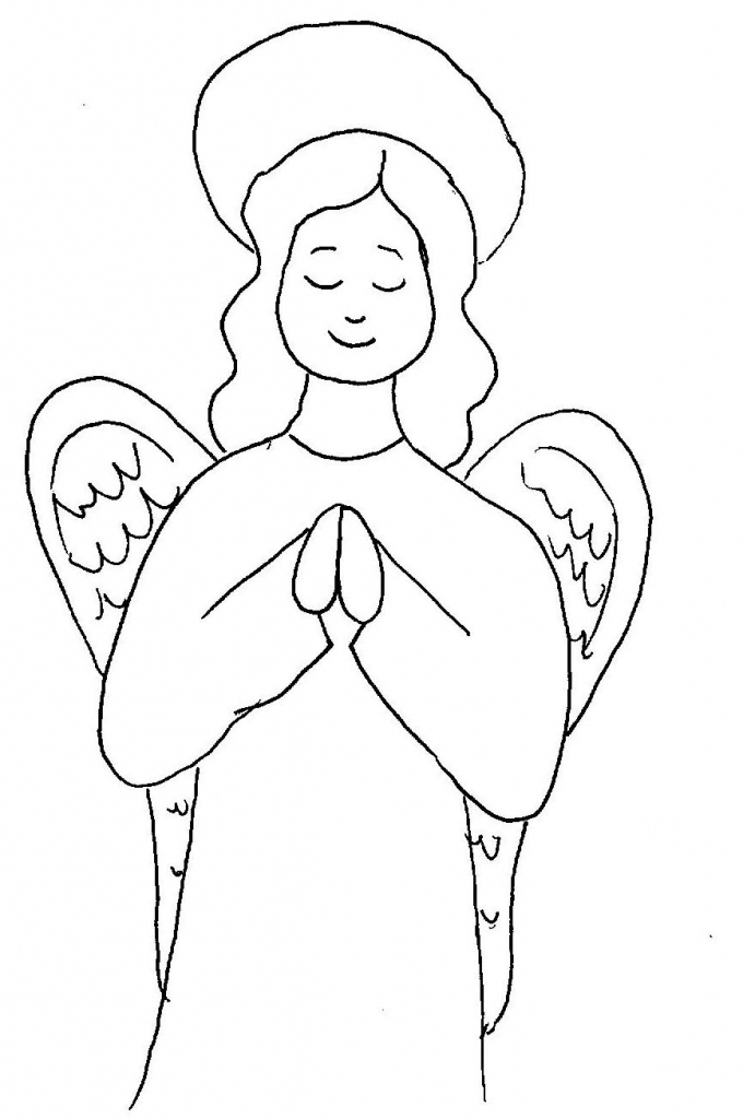 691x1024 Angel Drawing Step By Step Draw A Simple Angel Art Class Ideas
