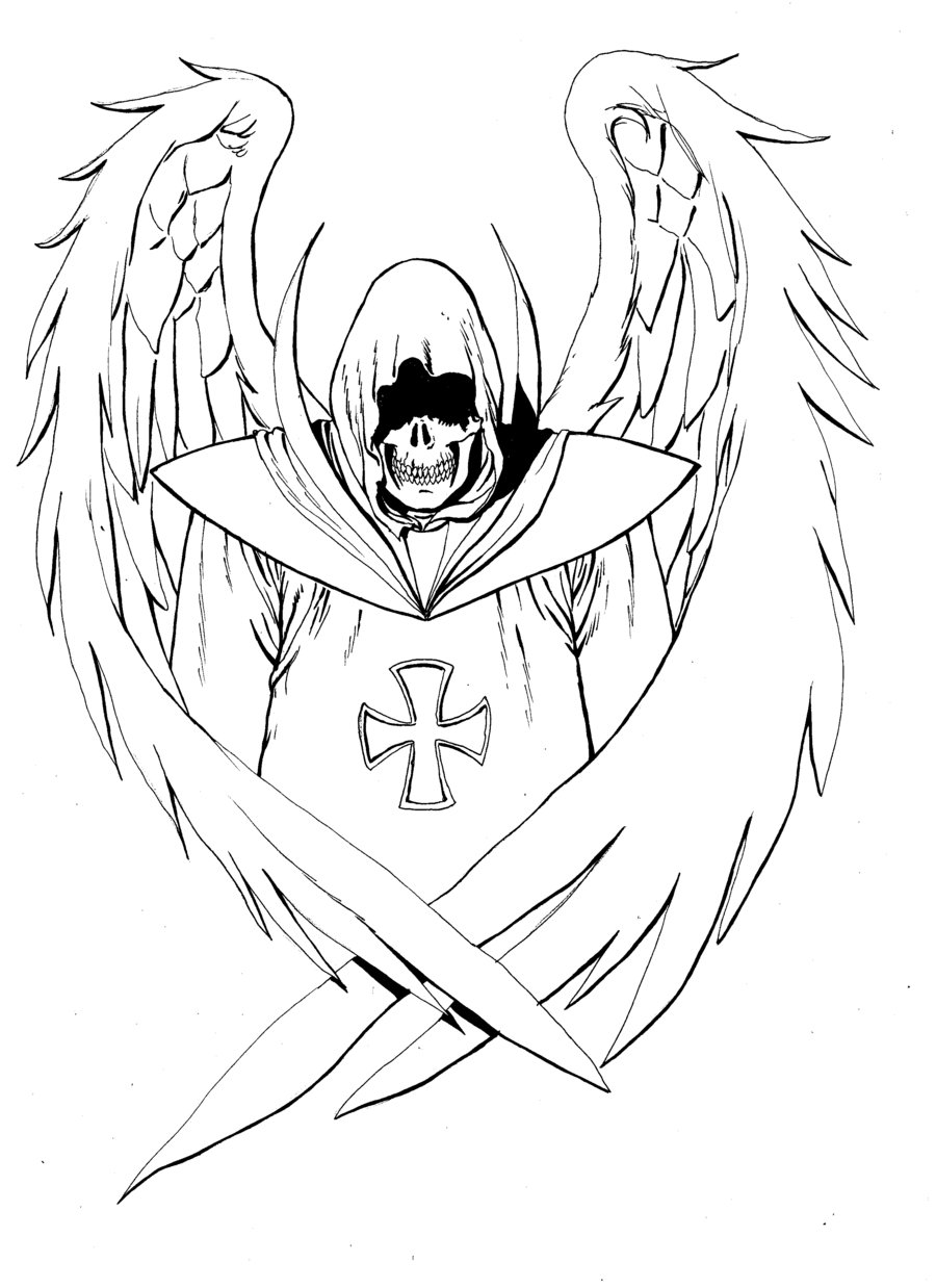 900x1238 Angel Of Death By Gianlucatestaverde