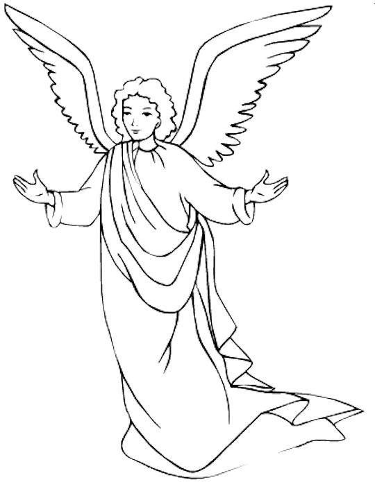 540x695 Coloring Pages Of Angels