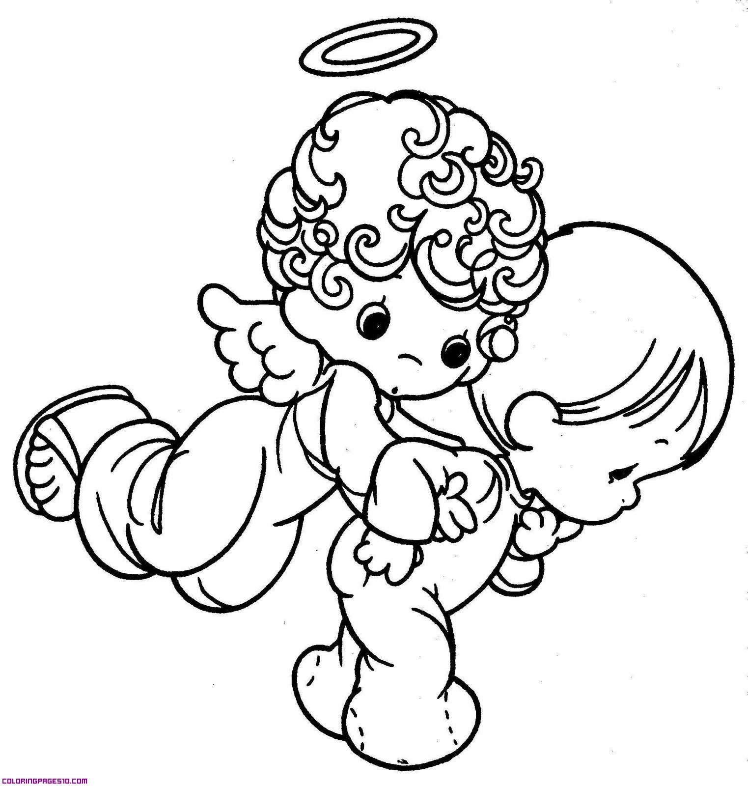 1523x1600 Drawings Of Angels For Kids Drawn Angel Cute