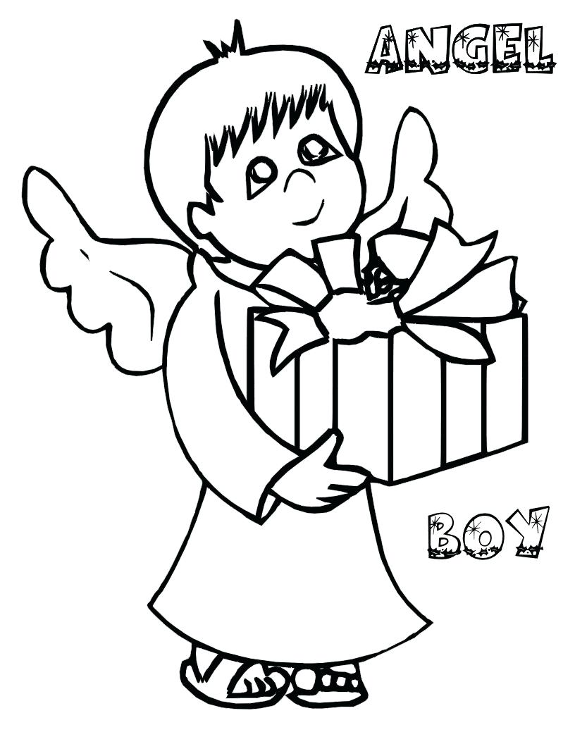 816x1056 Coloring Christmas Angel Coloring