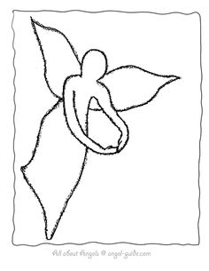 Angel Drawing Outline