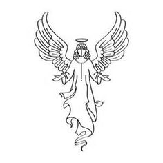 236x236 Angel Clipart Black And White Free