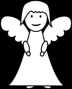 243x300 Angel Outline Clip Art