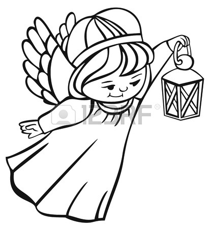 415x450 Angel Outline Stock Photos. Royalty Free Business Images