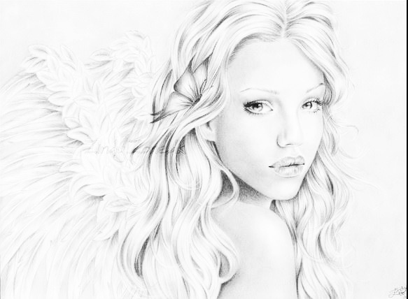 583x428 22 Best Angels Images On Angel Drawing, Angels And Demons