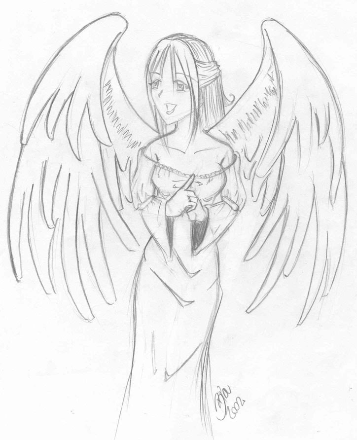 724x892 Drawn Angel Happy