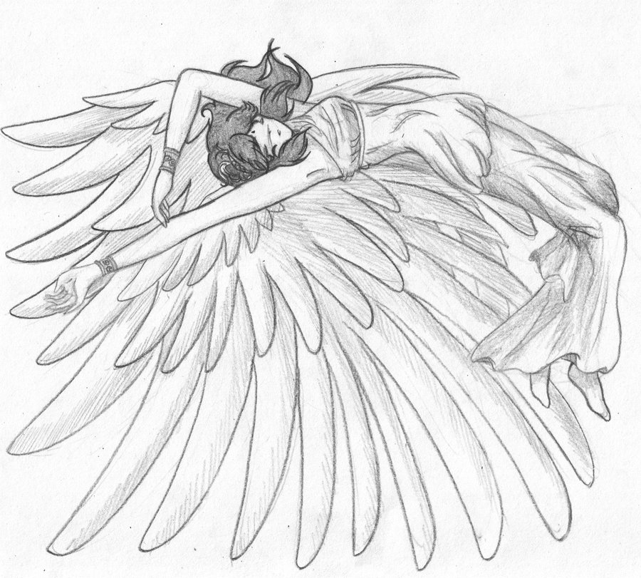 900x811 Drawn Angel Sketched