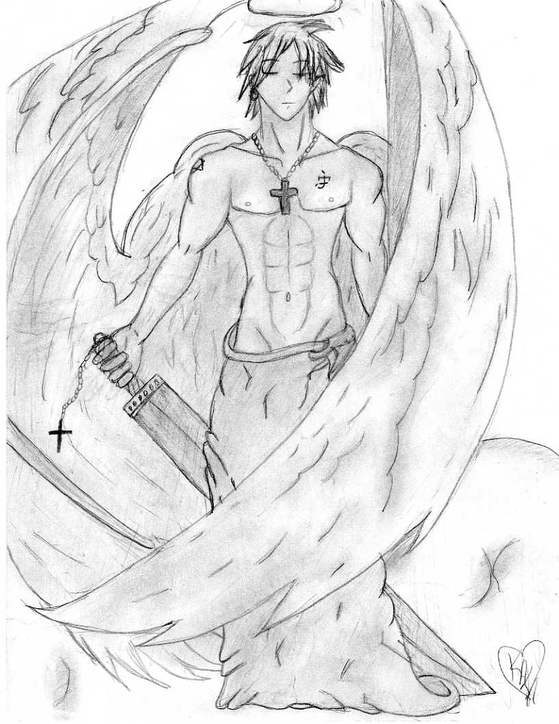 816x1056 Male Angel By Ambientmoon