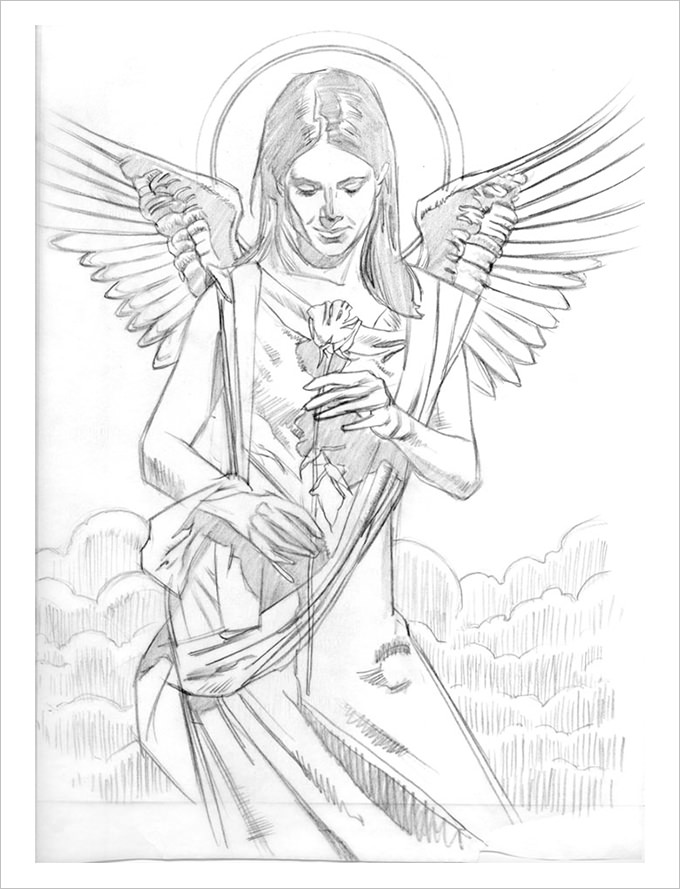 680x889 Angel Drawings