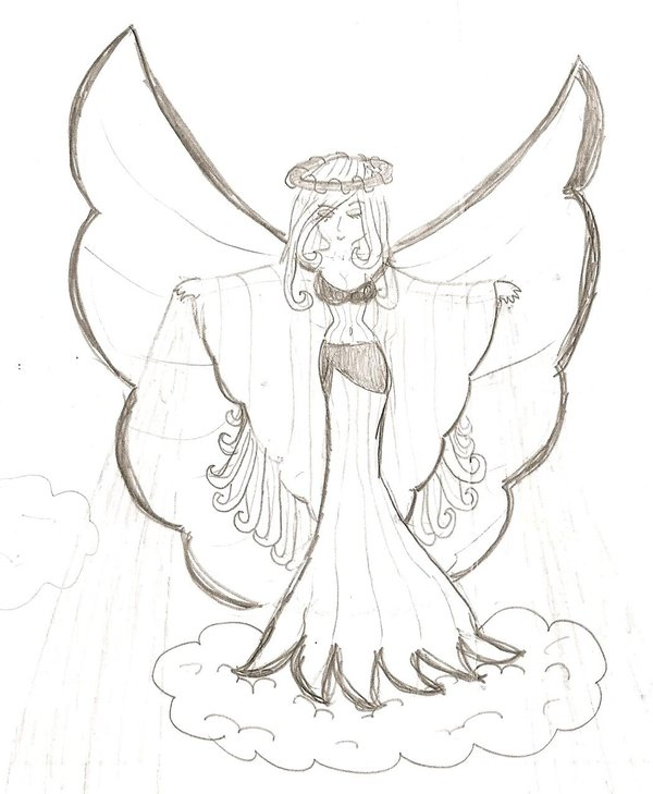 600x729 Pencil Angel By Lulinah