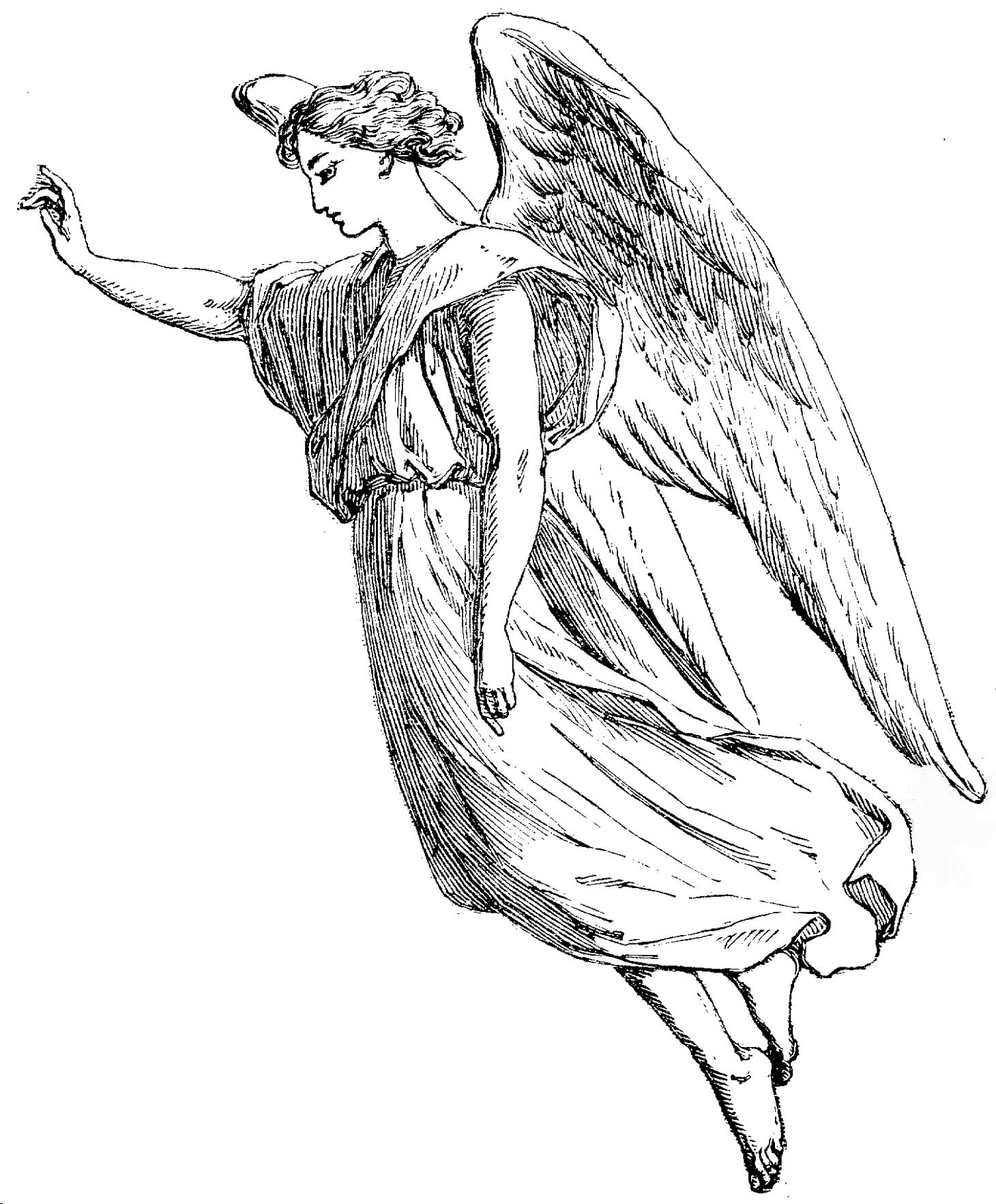 1460x1764 Coloring Pages Angel