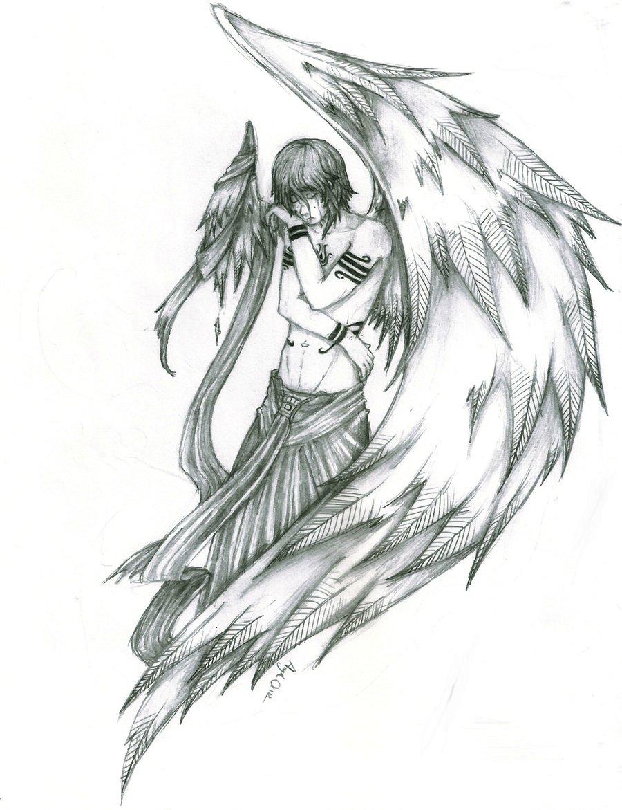 900x1171 Drawn Sketch Broken Angel