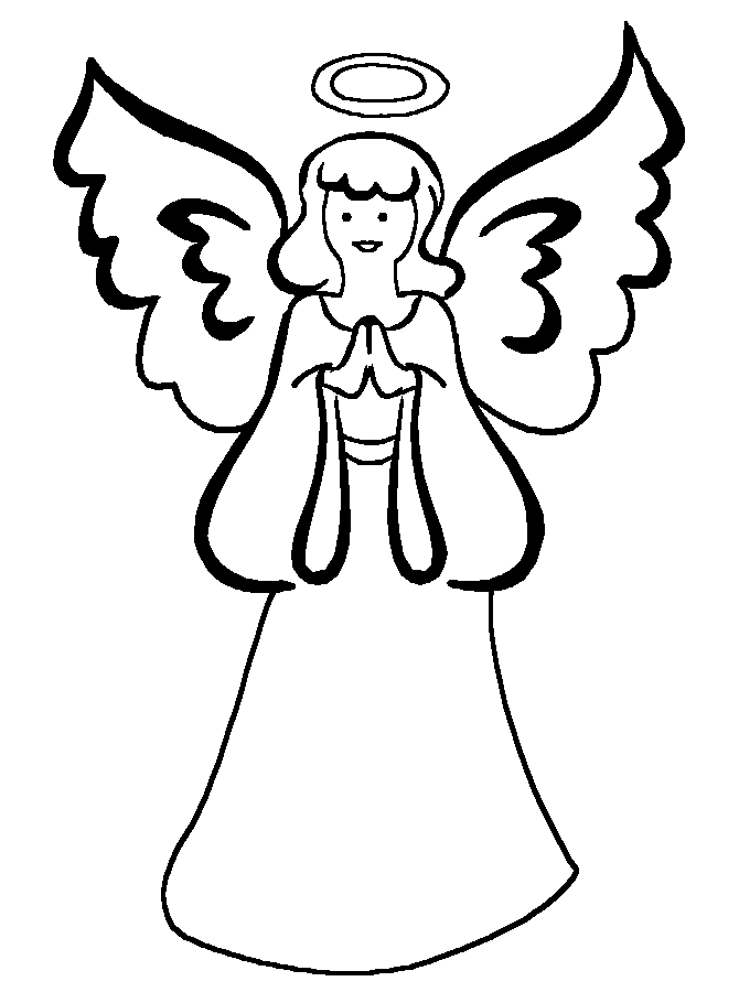 670x910 Free Printable Angel Coloring Pages 464093
