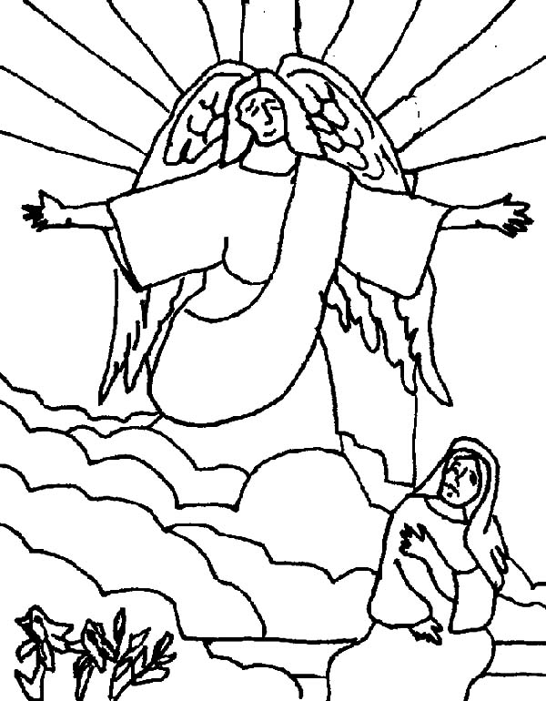 600x770 Kids Drawing Angel Appears To Mary Coloring Pages Bulk Color