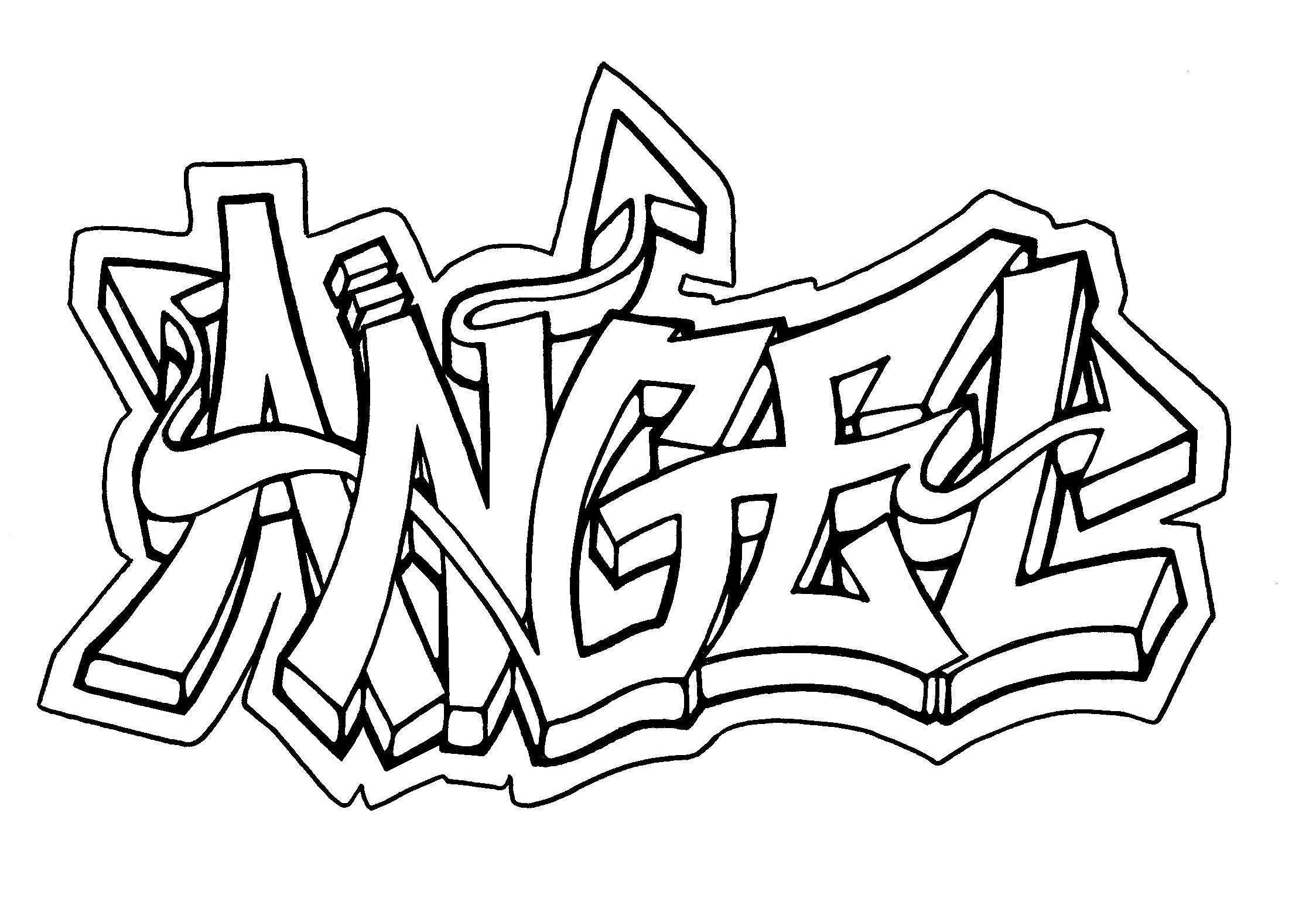 2247x1545 Pictures Angel In Graffiti Letters,