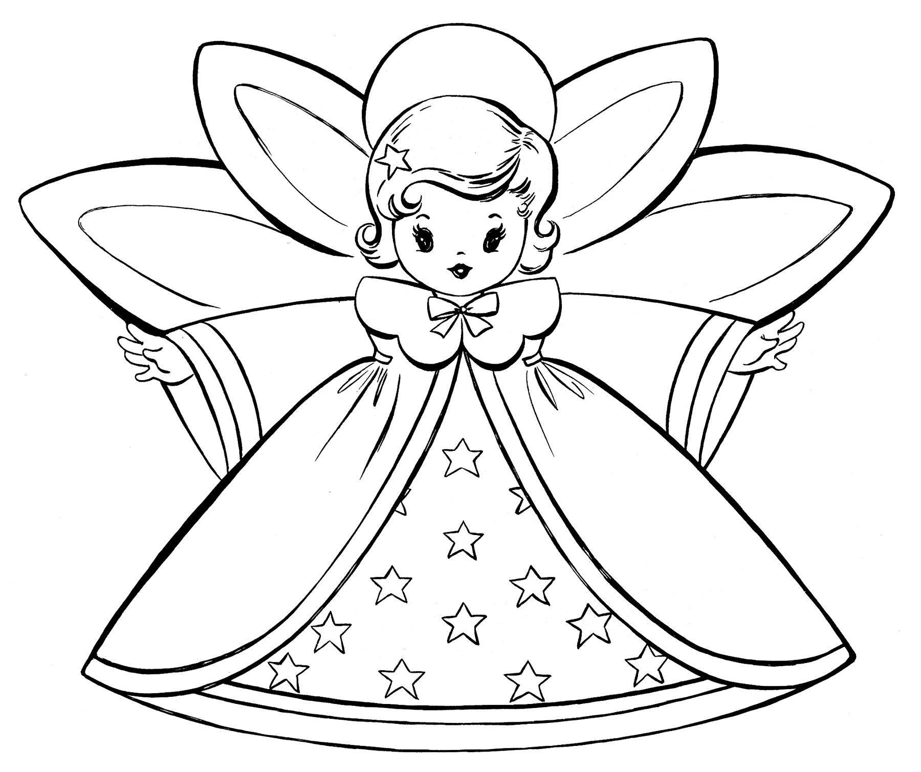 1800x1509 Angel Coloring Pages For Girls Colouring In Sweet Draw Print