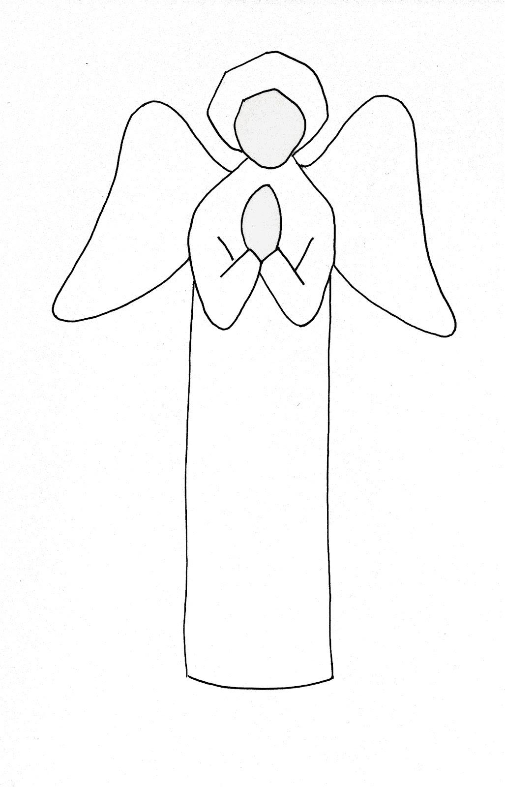 1027x1600 Simple Drawing Of An Angel Simple Angel Sketch