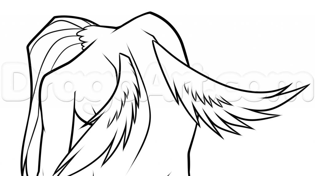 1024x572 Sketch Of Fallen Angel Drawing A Fallen Angel, Stepstep, Concept