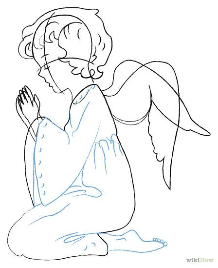 Angel Drawing Simple