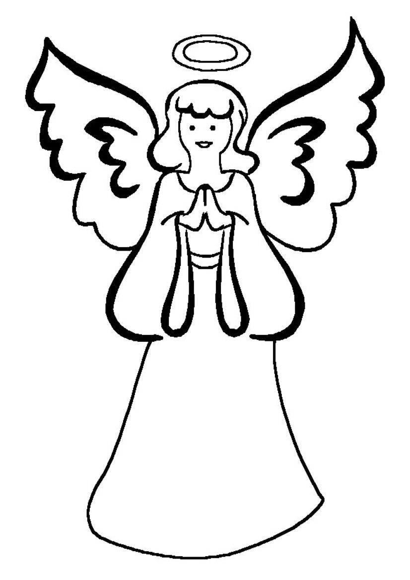 826x1169 Simple Angel Coloring Page Simple Colorings