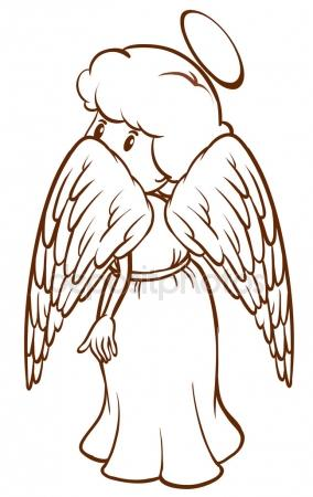 284x450 A Simple Sketch Of An Angel Stock Vector Blueringmedia