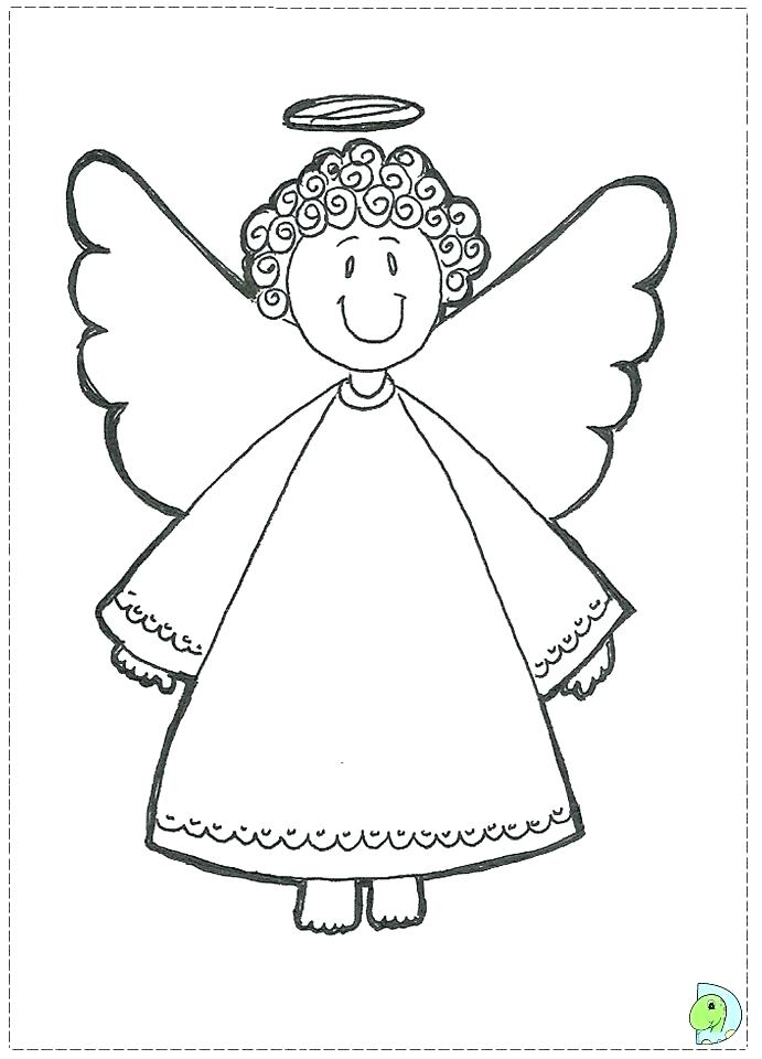 691x960 Simple Angel Coloring Page Best