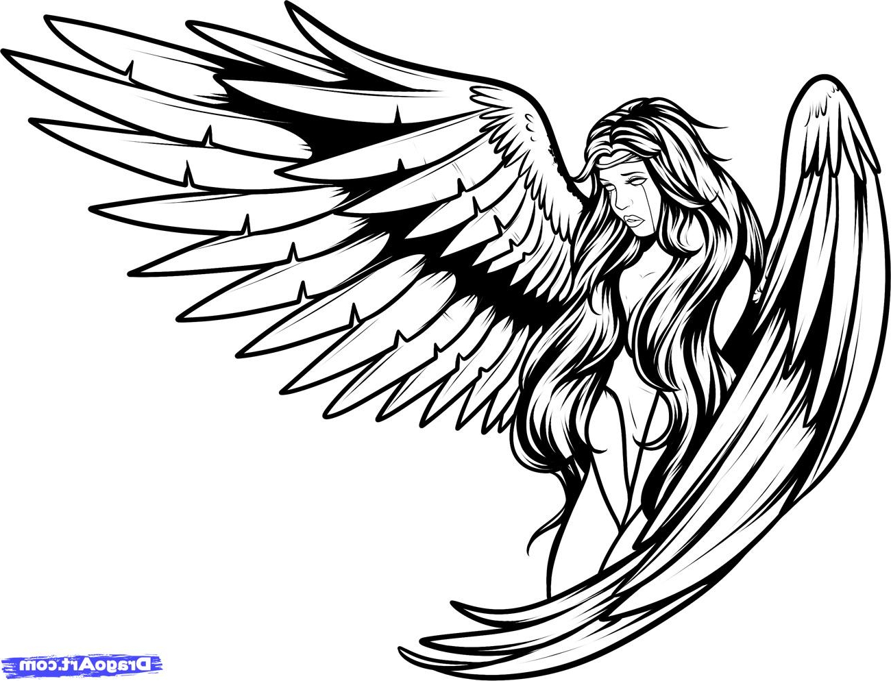 1300x994 Simple Angel Tattoo Designs