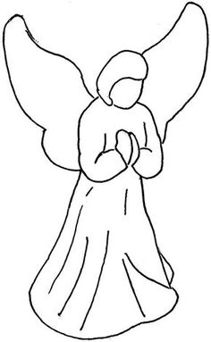 236x383 Angel Clip Art Simple Angel Clipart Black And White Free