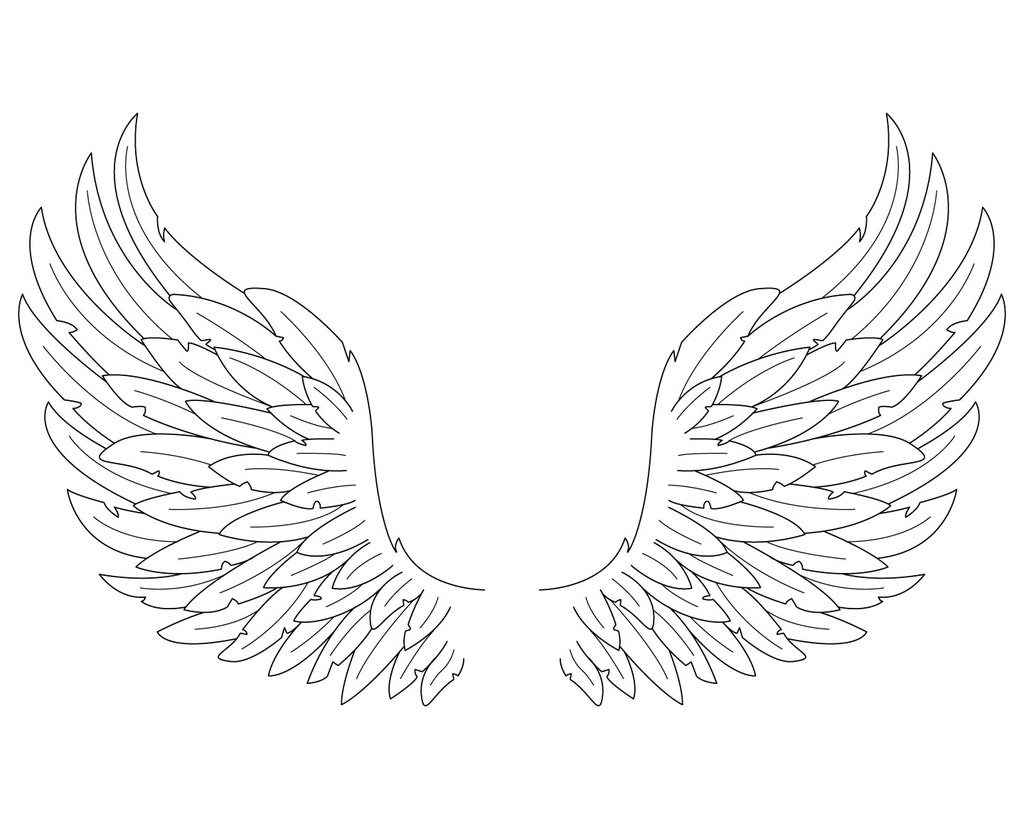 1024x819 Angel Wings Coloring Pages Coloring Page For Kids