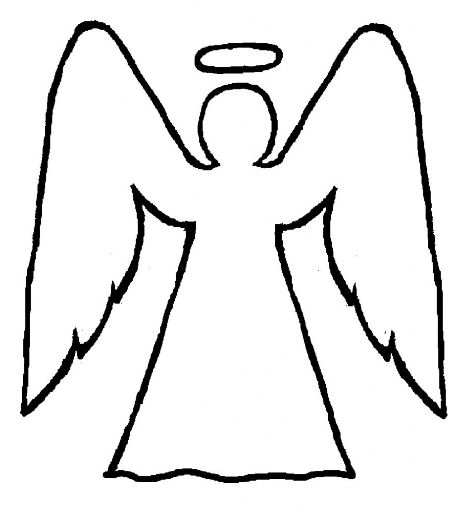 921x1024 How To Draw A Cartoon Angel Step By Step