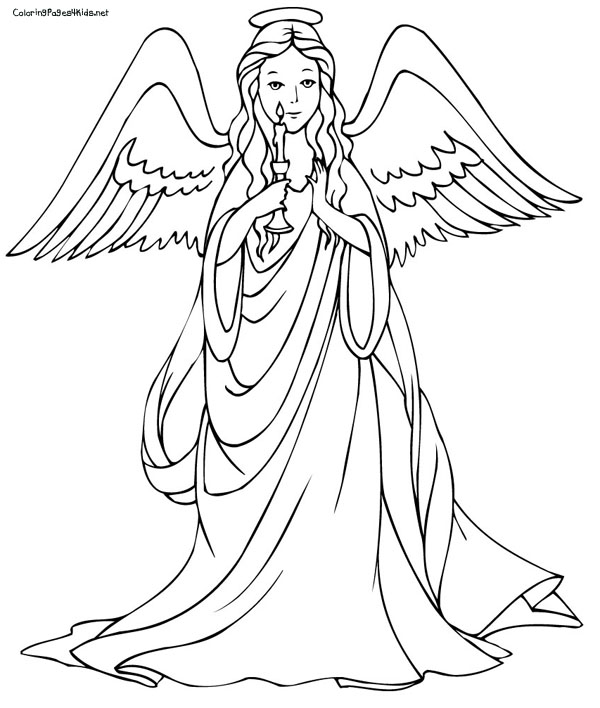 600x708 Angel Coloring Pages To Print Christmas Angels Of Pictures We