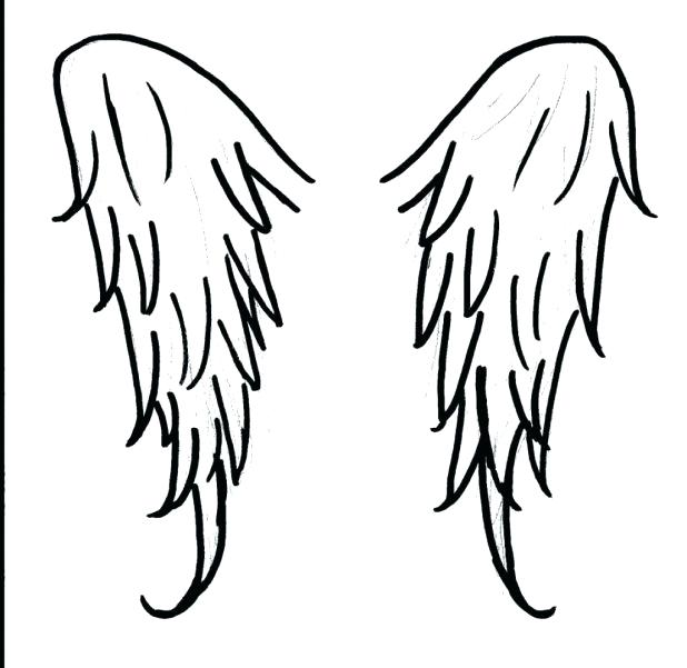 618x601 Coloring Pages Crosses Simple Angel Wings Drawing Pics Of Coloring