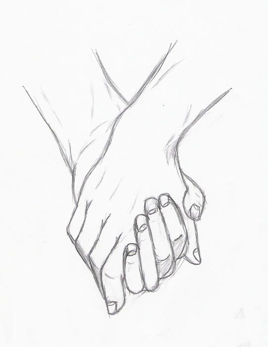541x700 Holding Hands Drawing How To Draw Holding Hands With Easy Step