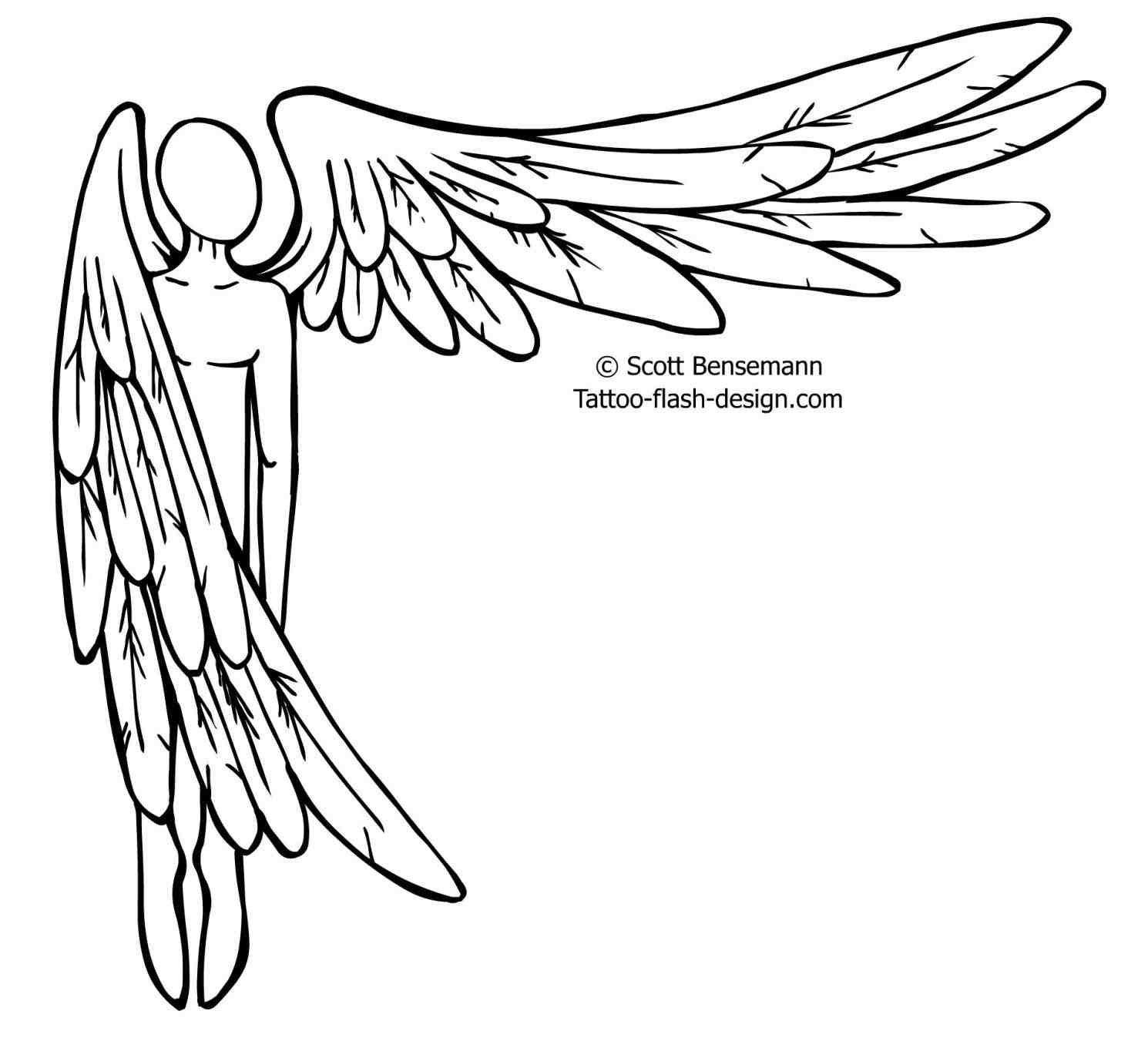 1490x1373 How To Draw Angel Wings Step By Step Easy