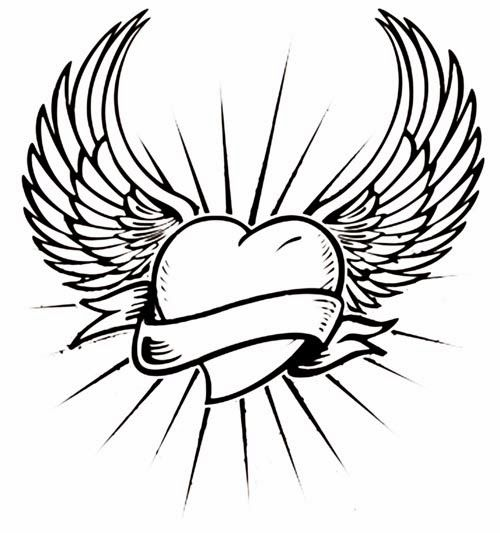 500x533 37 Best Angel Tattoo Drawings For Stencil Images