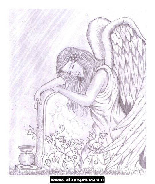540x640 5 Tatoos Looking For Abstract Angel Tattoo Designs