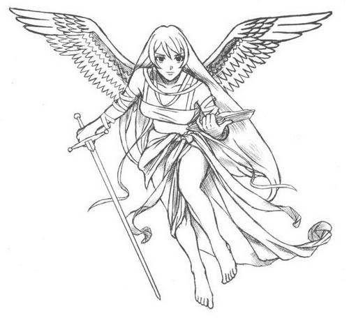 500x456 Angel Tattoo Designs Idea Tattoo Design Ideas