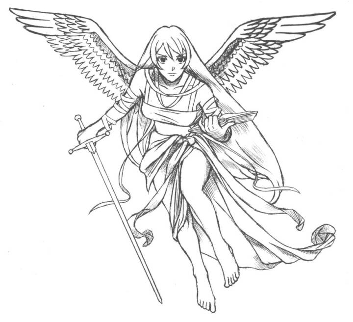 720x656 Angel Tattoo Sketches Tattoo Design Images Angels For Sandy