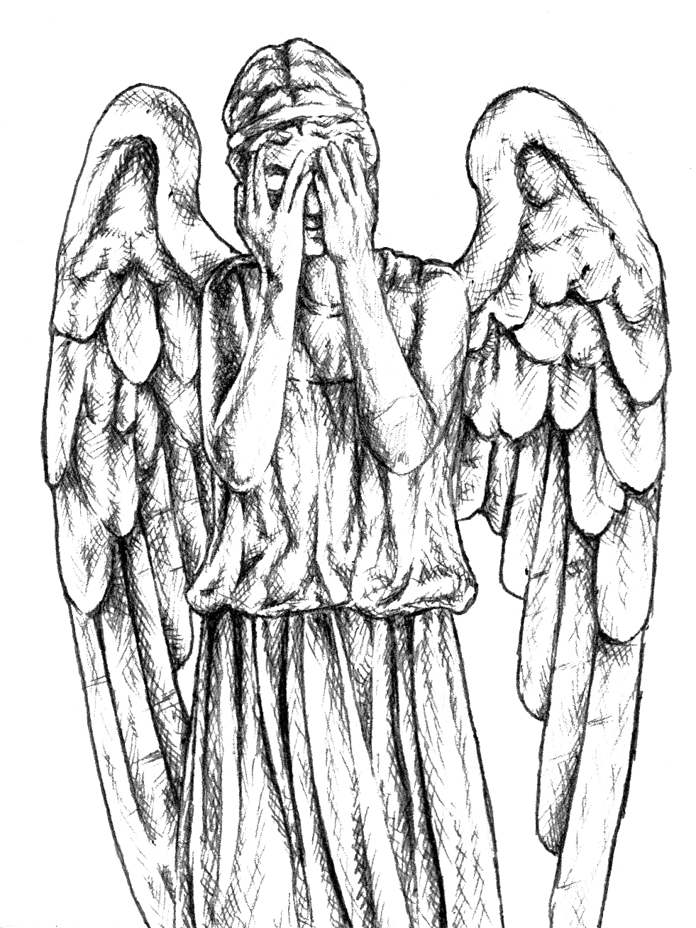 981x1307 Doctor Who Weeping Angels Sketches Projects To Try