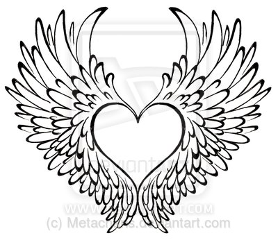 400x346 Heart With Wings Tattoo By ~metacharis On Tattoos I