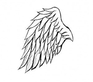 300x267 Angel Wings Drawing Tumblr