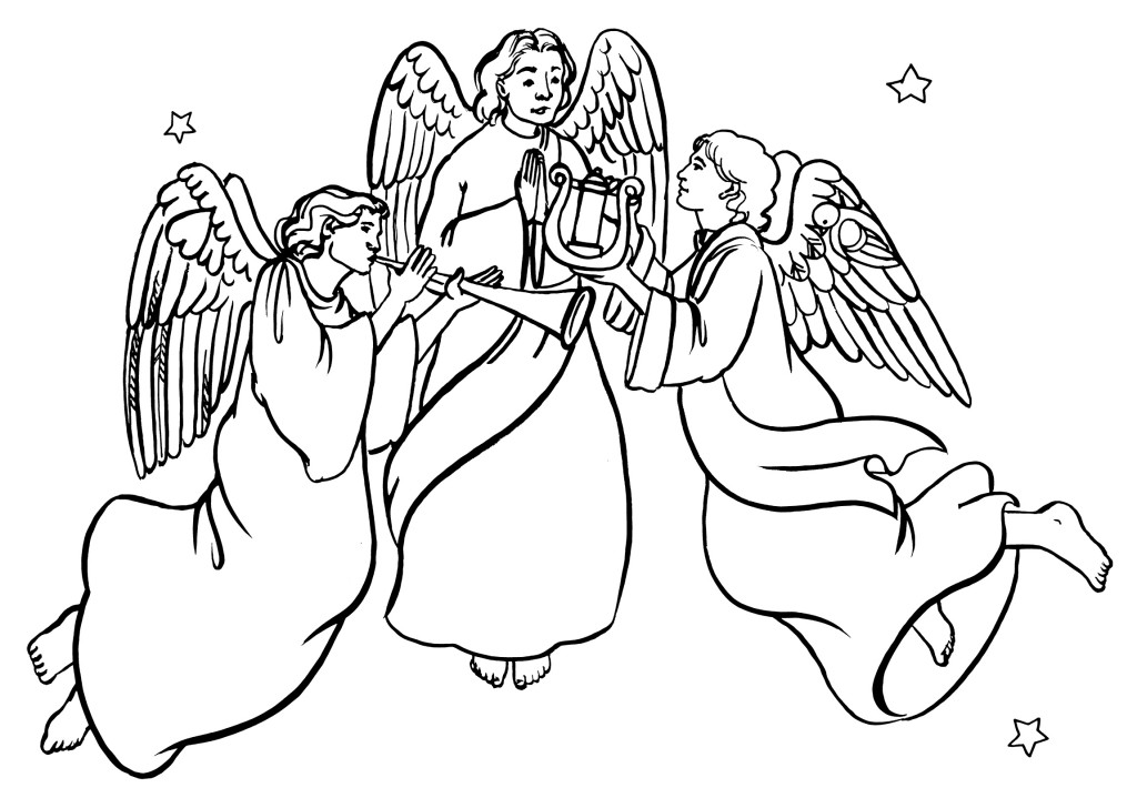 1024x728 Dark Angel Clipart Herald Angels