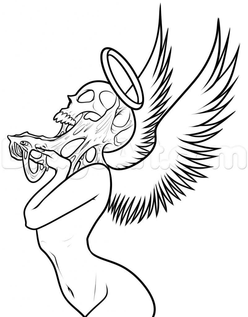 801x1024 Drawing Pictures Of Angels Angel How To Draw And Angel Drawing
