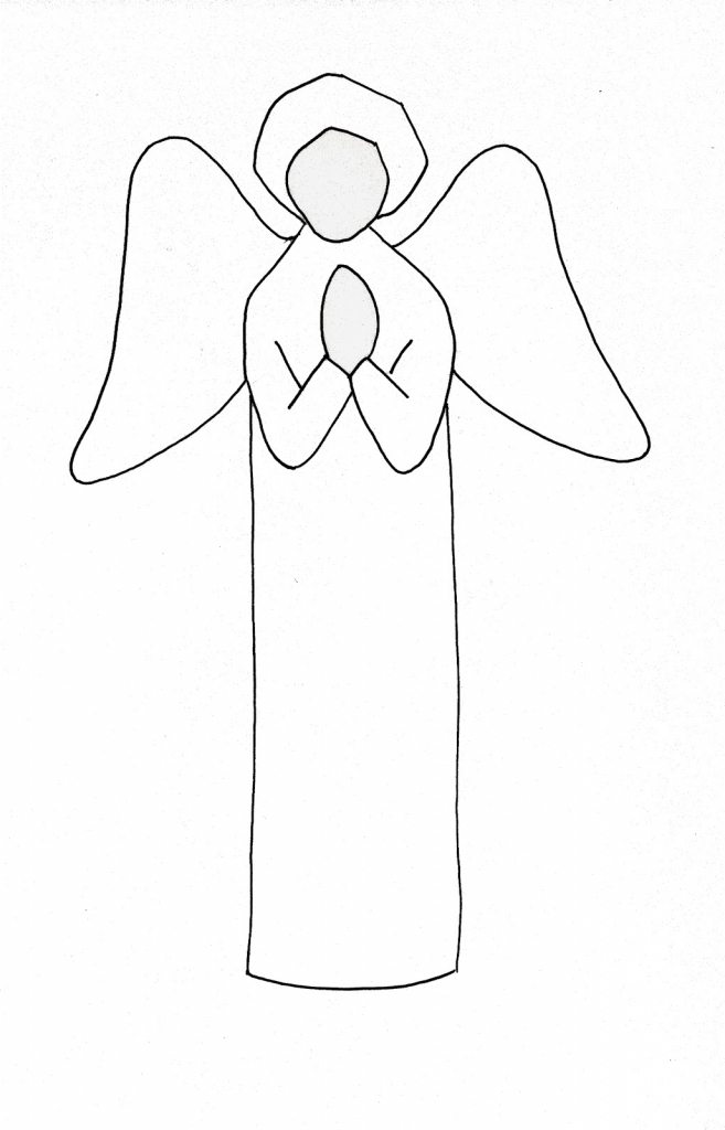 657x1024 Simple Drawing Of An Angel