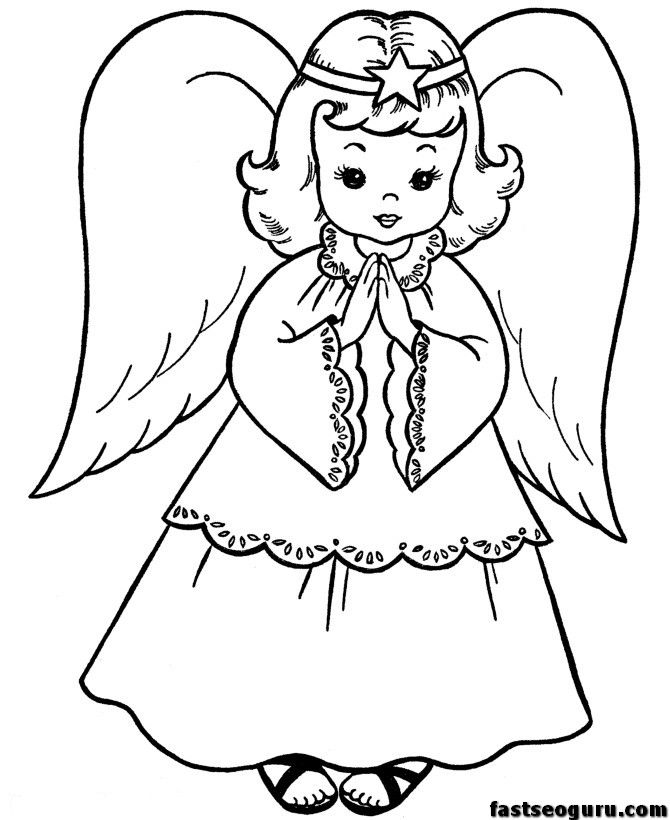 Angel Face Drawing