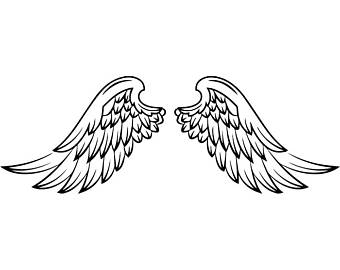 340x270 Feathered Angel Svg Etsy